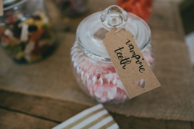 Sweet Table | Bride in Anna Campbell Gown from Coco & Kate Boutique | Groom in Next Wool Suit | Rustic Barn Pink Summer Wedding at Nancarrow Farm in Cornwall | Ross Talling Photography