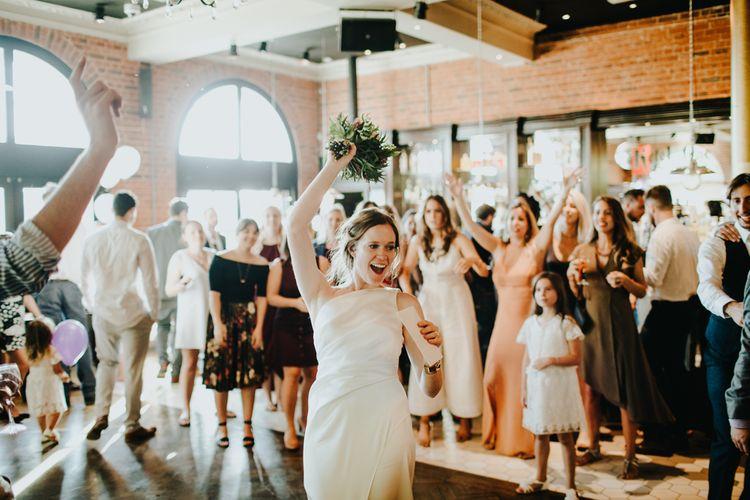 Throwing the Bouquet | Bride & Groom | Petersham Nurseries Botanical Wedding | Irene Yap Photography