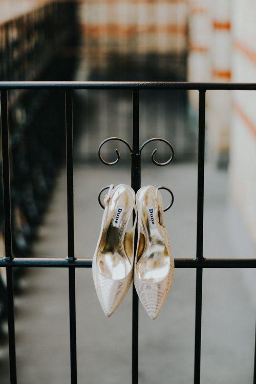 Dune Wedding Shoes | Petersham Nurseries Botanical Wedding | Irene Yap Photography