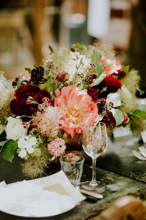 Floral Centrepiece | Petersham Nurseries Botanical Wedding | Irene Yap Photography