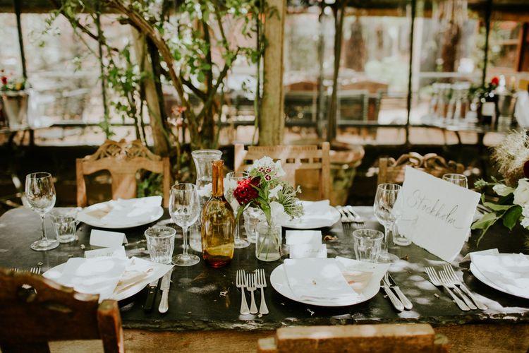Place Settings | Petersham Nurseries Botanical Wedding | Irene Yap Photography