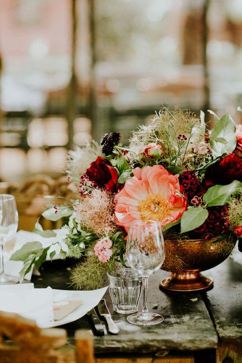 Floral Centrepieces | Petersham Nurseries Botanical Wedding | Irene Yap Photography