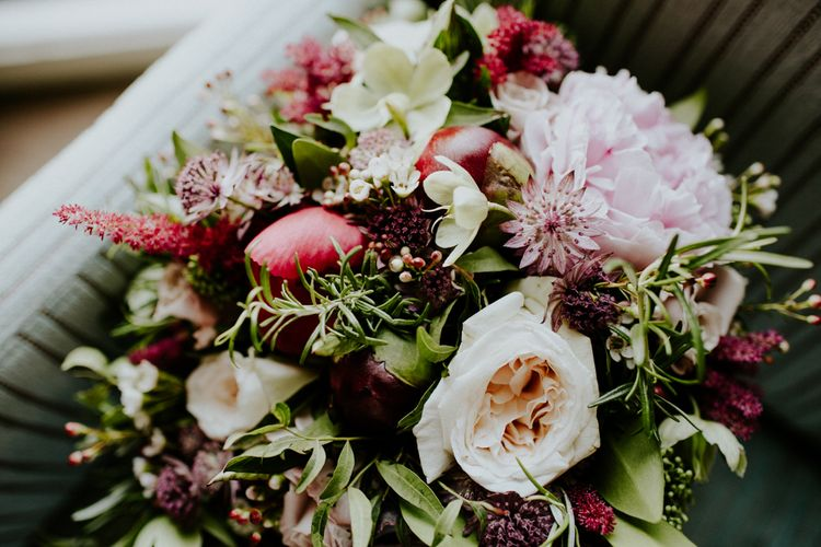 Red & Pink Bouquet Wedding Flowers | Petersham Nurseries Botanical Wedding | Irene Yap Photography