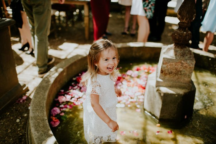 Flower Girl | Petersham Nurseries Botanical Wedding | Irene Yap Photography