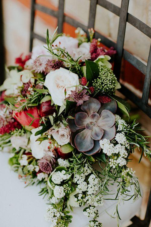 Red & PinK Wedding Bouquet | Petersham Nurseries Botanical Wedding | Irene Yap Photography