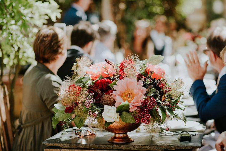 Red & Pink Wedding Flowers | Petersham Nurseries Botanical Wedding | Irene Yap Photography