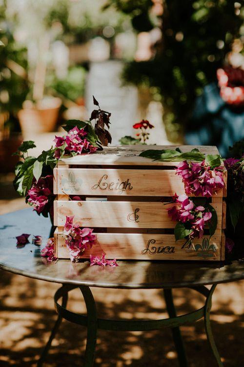 Personalised Rustic Crate | Petersham Nurseries Botanical Wedding | Irene Yap Photography