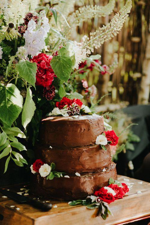 Chocolate Cake | Petersham Nurseries Botanical Wedding | Irene Yap Photography