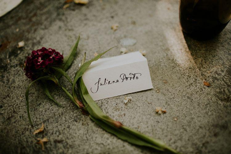 Calligraphy Place Setting | Petersham Nurseries Botanical Wedding | Irene Yap Photography