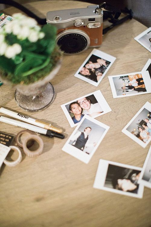 Polaroid Guest Book | Jacob & Pauline Photography | Pretty in White Films