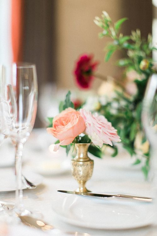 Peach, Coral, Pink, Fuchsia, Red & Burgundy Floral Decor by Westwood Design | Jacob & Pauline Photography | Pretty in White Films