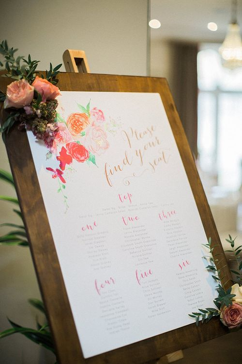 Paperknots Wedding Stationery Table Plan | Jacob & Pauline Photography | Pretty in White Films