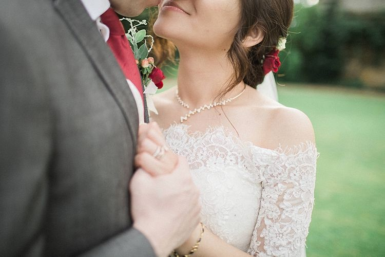 Bride in Renee L. Collections Gown | Groom in Moss Bros Traditional Suit | Jacob & Pauline Photography | Pretty in White Films