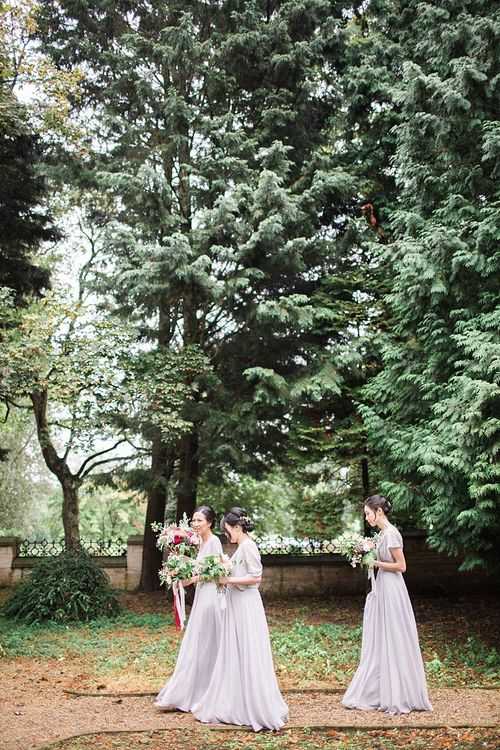 Bridesmaids in Grey Love Potion Dresses | Jacob & Pauline Photography | Pretty in White Films
