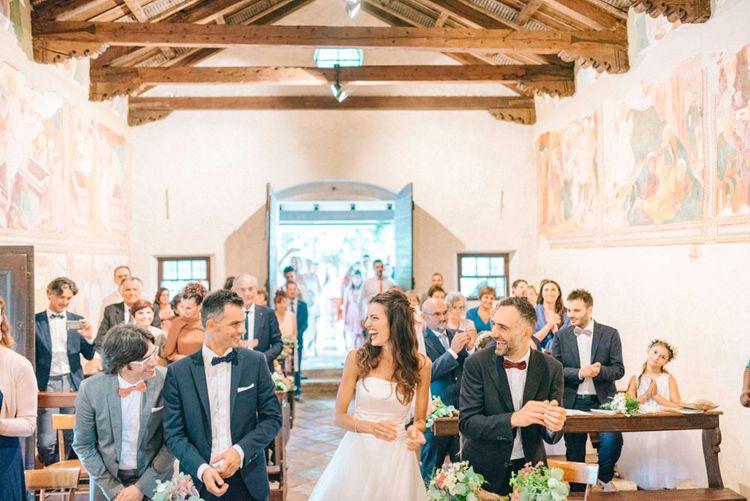 Bride & Groom Italian Church Wedding Ceremony