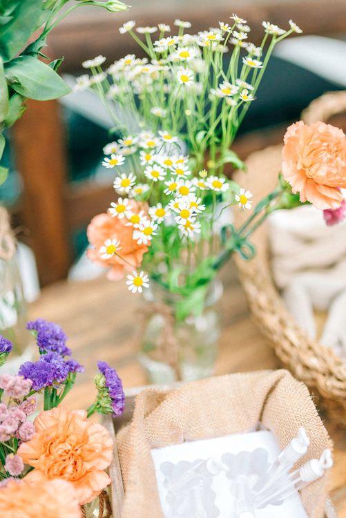 Wild Flower Stem Wedding Decor