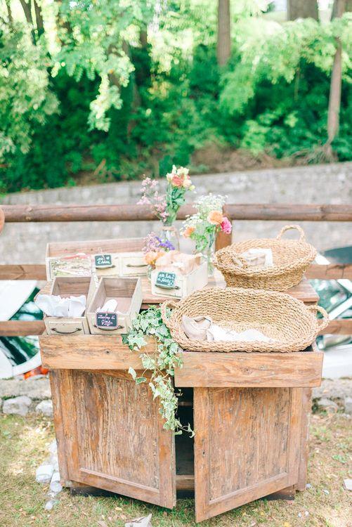 Rustic Food Station Wedding Decor