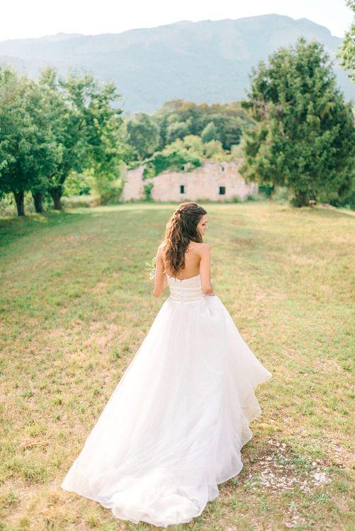 Bride in Stefano Blandaleone Bridal Gown