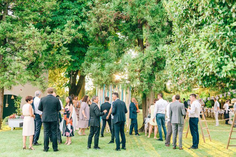Outdoor Reception Wedding Guests