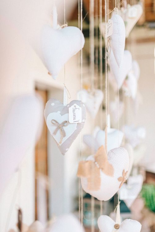 Hanging Hearts Wedding Favours & Decor
