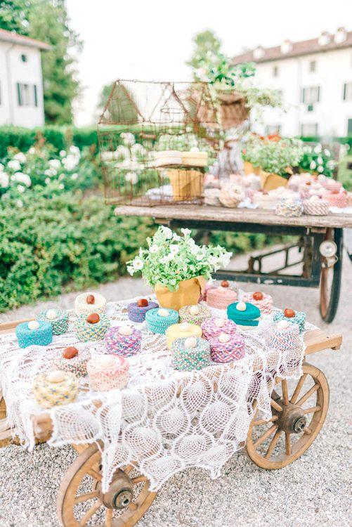 Rustic Cart Wedding Decor