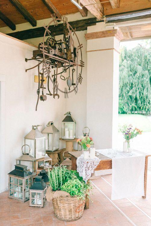 Hurricane Lanterns Wedding Decor