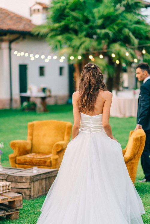 Bride in Stefano Blandaleone Wedding Dress