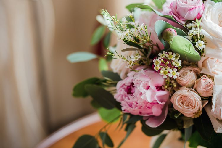 Pink Peony Bridal Bouquet | Tuscany Wedding | Due su Due Photography