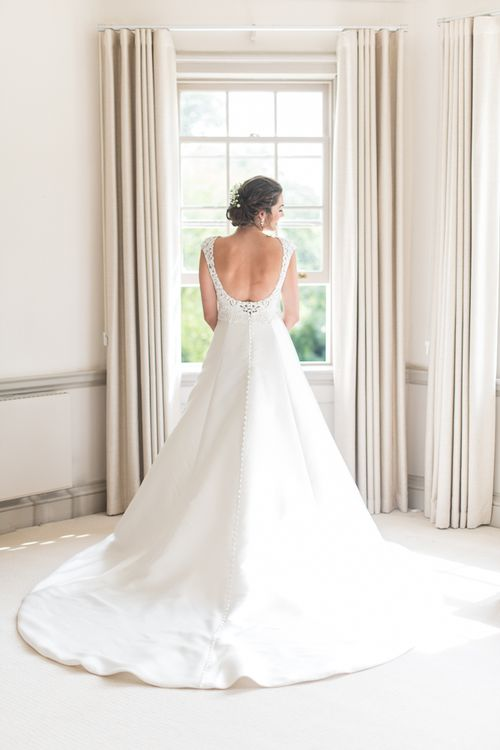 Pronovias Wedding Dress // Elegant & Classic Sail Cloth Tent Wedding At Wickham House With Bride In Pronovias And Images From Fine Art Photographer Julie Michaelsen