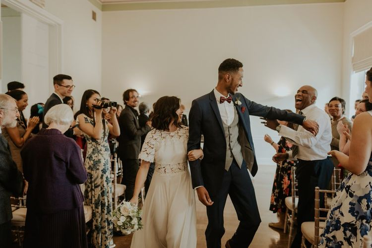 Stylish City Wedding at The Happenstance | Giambattista Valli Gown | ReWritten Bridesmaid Dresses | The Curries Photography | Ray McShane Films