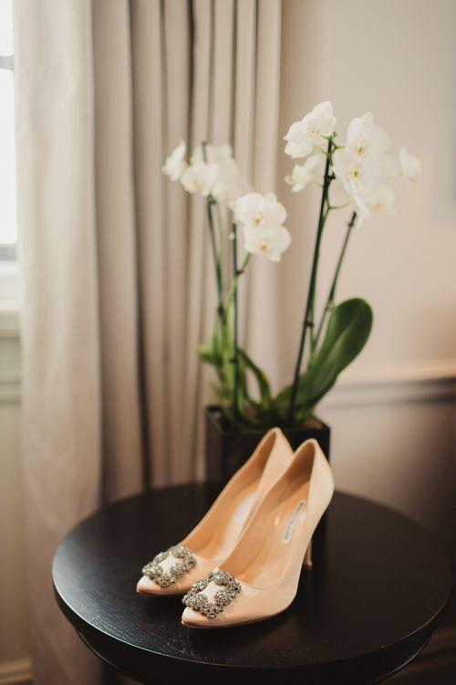 Cream Manolo Blahnik Wedding Shoes