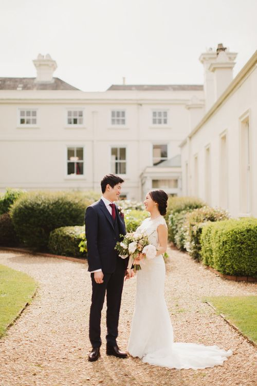 Elegant London Wedding With Spring Flowers In Pastel Shades With Bride In Bespoke Lace Gown & Bridesmaids In ASOS With Images By Frances Sales