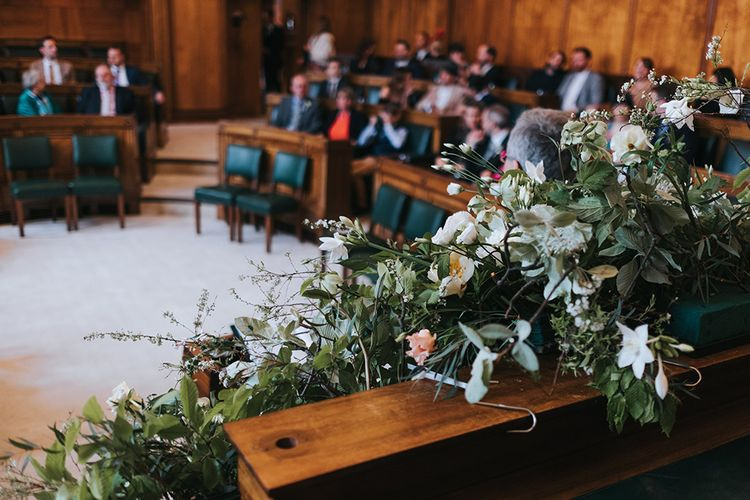 Wedding Ceremony At Town Hall Hotel // Image By Miss Gen Photography