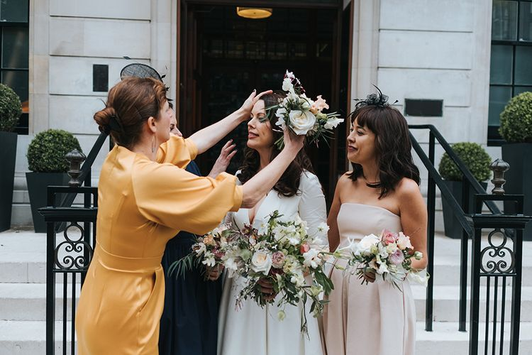 Bridesmaids In Mustard Yellow, Navy And Lilac With Images By Miss Gen Photography