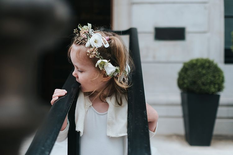 Flower Girl With Flower Crown Image By Miss Gen Photography
