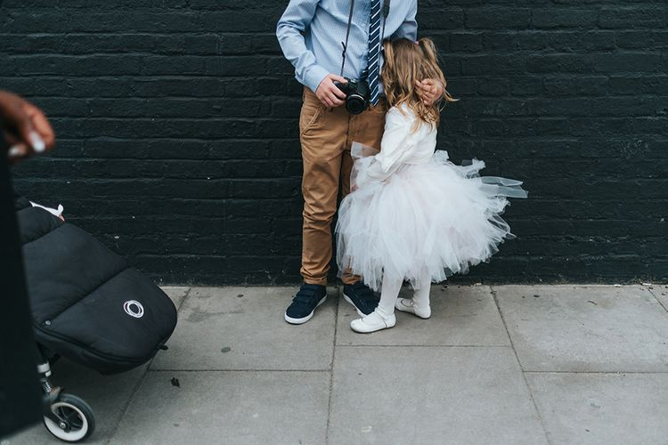 Flower Girl In White Tutu // Image By Miss Gen Photography