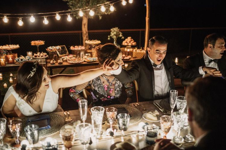 Cosmic Inspired Destination Wedding Barcelona With Epic Dessert Table & Outdoor Woodland Ceremony With Pampas Grass Planning Paloma Cruz Images Pablo Laguia