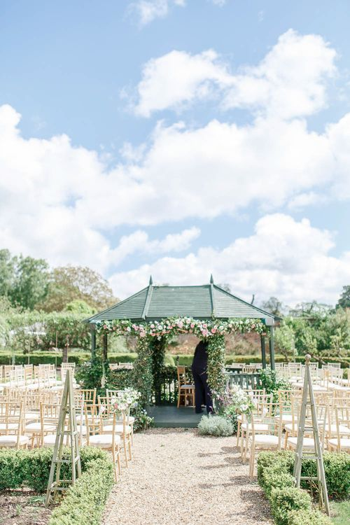 Outdoor Wedding Ceremony Aisle & Altar | The Secret Garden Wedding Venue in Essex | White Stag Wedding Photography