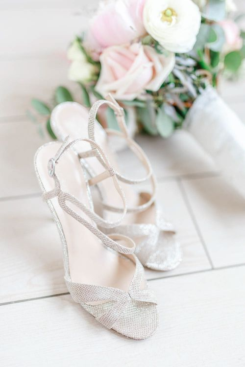 Carvela Silver Sandals | White Stag Wedding Photography
