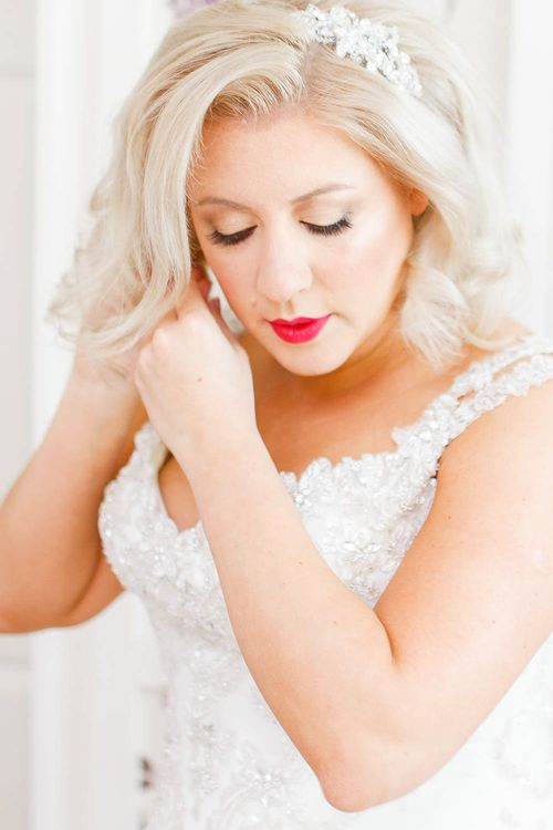 Bridal Preparations | Red Lipstick | White Stag Wedding Photography