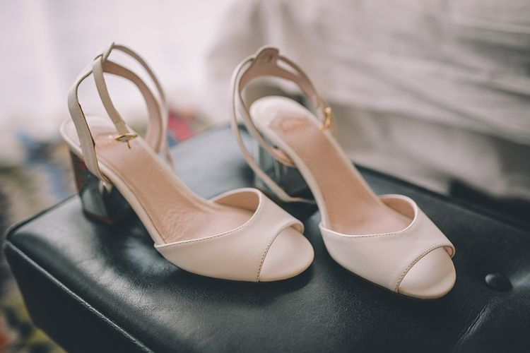 Faith Bridal Shoes   Stylish London Wedding Planned by Revelry Events   Story + Colour Photography
