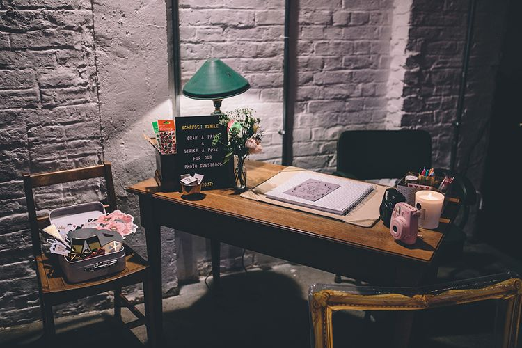 Photo Booth & Guest Book Station   Stylish London Wedding Planned by Revelry Events   Story + Colour Photography