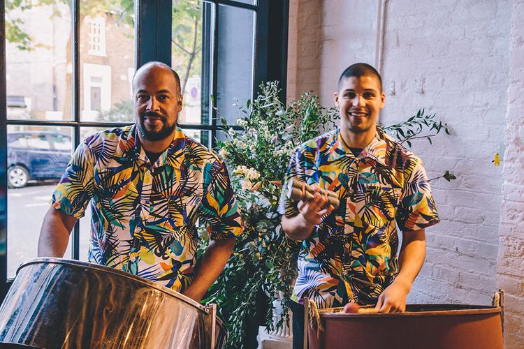 Trinidadian Steel Drums Wedding Entertainment   Stylish London Wedding Planned by Revelry Events   Story + Colour Photography