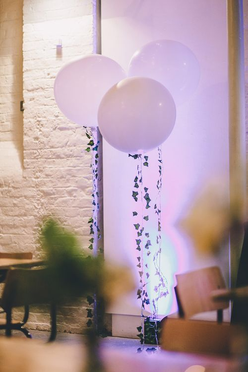 Giant Balloons Wedding Decor   Stylish London Wedding Planned by Revelry Events   Story + Colour Photography