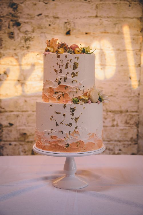 Iced Wedding Cake by Butter Beautiful   Stylish London Wedding Planned by Revelry Events   Story + Colour Photography