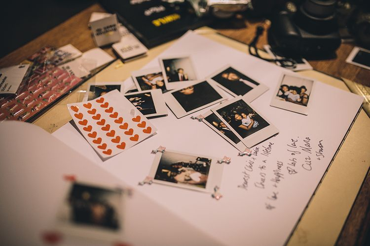 Polaroid Picture Guest Book   Stylish London Wedding Planned by Revelry Events   Story + Colour Photography