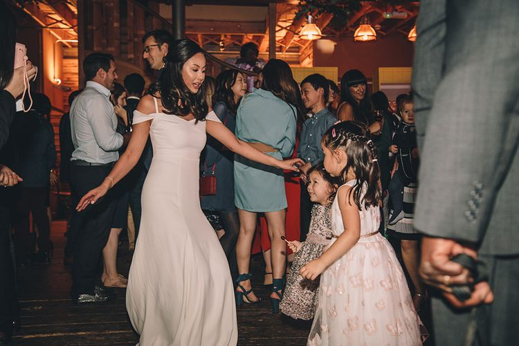 Bride in Reformation Poppy Gown   Stylish London Wedding Planned by Revelry Events   Story + Colour Photography