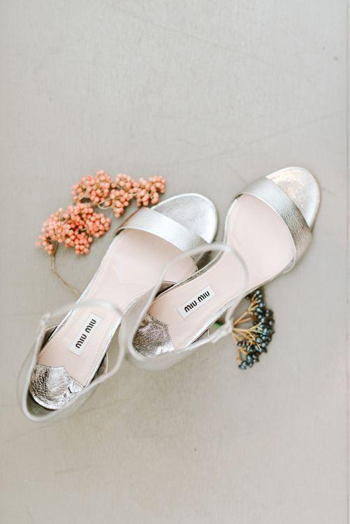 Silver Miu Miu Wedding Shoes