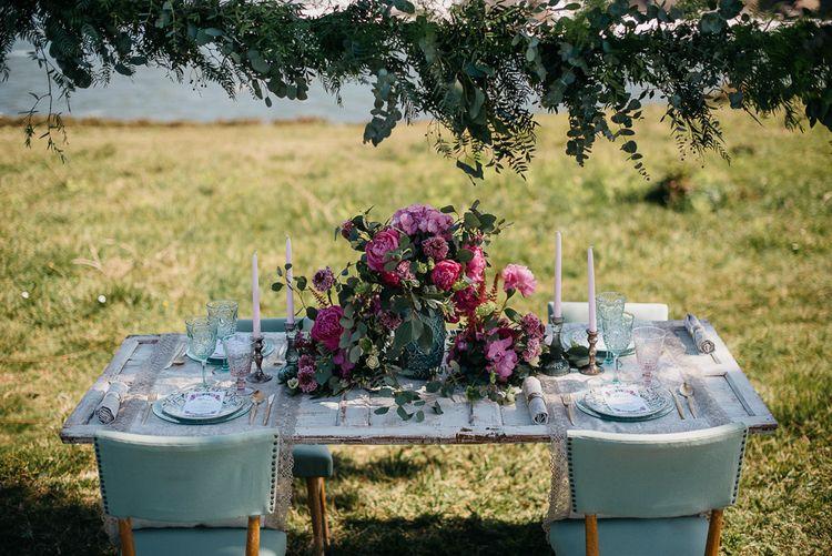 Large Floral Arrangement For Wedding Table