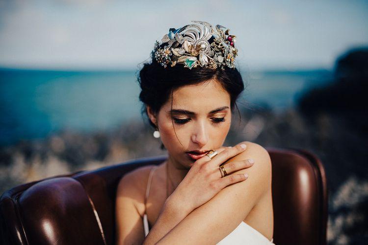 Bride In Handmade Tiara